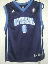 77e5b173456 Adidas NBA Jersey Utah Jazz num 8 Deron Williams Blue Youth sz L 14-16