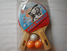 Lida Wente Tischtennis-Schläger  Set mit 3 Bällen    neu + ovp