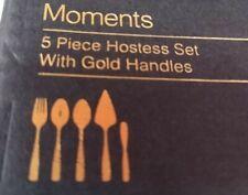 Moments 5 Piece Hostess Set Gold Flatware