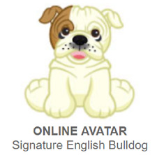 Webkinz Signature English Bulldog *Code Only*