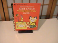 1992 a Little Golden Book Richard Scarry's Best Little Word Book Ever! Very Fine