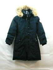 Girls fur-Trimmed Brittania Parka Canada goose Size XS (6), gently wear,