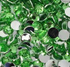 12mm Light Green Rhinestones, Green Flatback Gemstones -28 Pcs