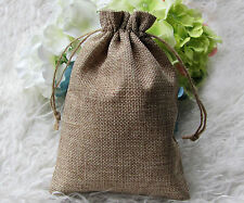 100pcs Faux Burlap Hessian Mini Bags Rustic wedding Gift bags 14.5*20cm MB13-100