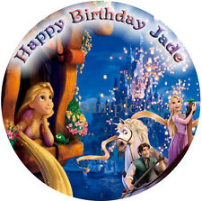 RAPUNZEL Round Edible Birthday CAKE Image Icing Topper Party Decoration Tangled