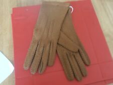 1940s New Ladies Brown Peccary Gloves size 7