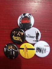 "1.25"" Quentin Tarantino pin back button set of 6"