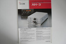 ICOM-AH-3 (GENUINE LEAFLET ONLY)..........RADIO_TRADER_IRELAND.