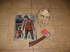 WALKING DEAD ZOMBIE MASK ,SHIRT AND AXE MENS ADULT NEW SET