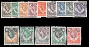 NORTHERN RHODESIA 1953 ELIZABETH II SET MNH #61-74 $84.10