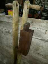 Antique Wooden Hand Corn Seed Planter  Farm Primitive Tool