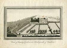 View of Lumley Castle in the Bishoprick of Durham grabado de finales del siglo X