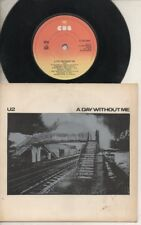 """U2  Rare 1st 1980 Irish Only 7"""" OOP CBS Label Rock P/C Single """"A Day Without Me"""""""