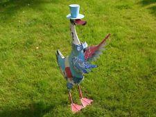 Sir Duck New Metal Vintage Top Hat Garden Statue Sculpture Decorative Ornament
