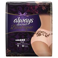 Always Discreet Boutique Pants Underwear 9 Pairs Medium Plus Sensitive Bladder