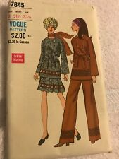 Vintage Vogue Special Design pattern Top Skirt Pants 7645 size 8 Uncut 1960's