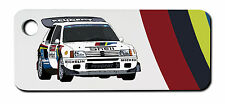Personalised Peugeot 205 T16 Rally Car Keyring