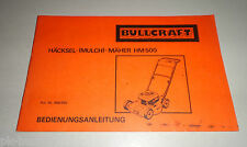 Betriebsanleitung / Handbuch Bullcraft HM 500 Häcksel-Mulch-Rasenmäher 03/1980