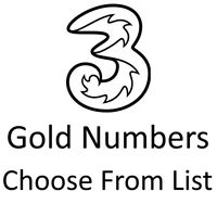 THREE GOLD VIP BUSINESS EASY MOBILE PHONE NUMBER DIAMOND PLATINUM PAYG SIM CARD