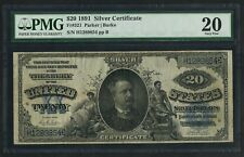 "FR321 1891 $20 ""MANNING"" SILVER CERTIFICATE -- PMG VF 20 -- WLM5566"