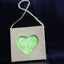 Card Wall Hanging Display Frame with Heart Window and String 7.6 x 7.6 x 0.5 cm