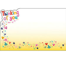 """50ct. """"Thinking of You"""" Hearts Floral Blank Florist Enclosure Cards Small Tags"""