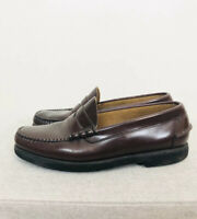 LL BEAN Men's Brown Leather Penny Loafer Oxfords Shoes Size 8.5