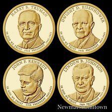 2015 S Presidential Mint Proof Dollar Set ~ Truman Eisenhower Kennedy Johnson
