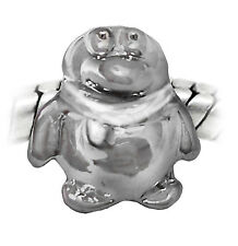Penguin Animal Zoo Bird Holiday Spacer Charm for Silver European Bead Bracelet