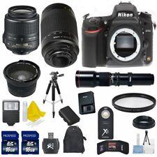Nikon D750 Digital SLR Camera 4 Lens Kit+ 18-55VR +Nikon 70-300G+ 500mm Preset++