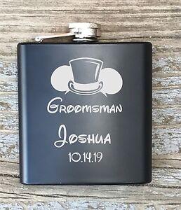 Disney Inspired Flask Personalized Groomsmen Flask Engraved Best Man
