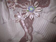 "Pure Silk Karen Millen dusty pink vest top, flower detail,sz10, ""any season"""