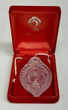 1983 Waterford Crystal CHRISTMAS HOLLY Ball Annual Ornament MINT in BOX w Pouch