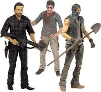 "THE WALKING DEAD - 5"" TV Series 7.5 Action Figure Set (3) McFarlane #NEW"