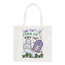 Manatee Tea Small Tote Bag - Funny Animal Sea Cute Joke Shoulder Shopper