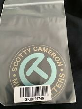 NEW 2011 SCOTTY CAMERON ROBIN'S EGG BLUE LARGE CIRCLE T STICKER MILLED PUTTERS