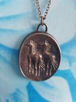REGIST Vintage Necklace Pendant horses chain
