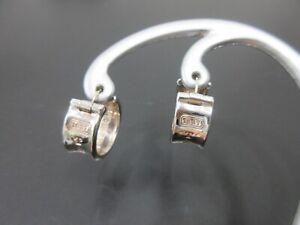 Authentic Tiffany & Co. 1837 Pierced Earrings Silver 925 Good 94995