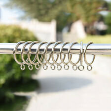 10Pcs Metal Curtain Roman Rings 25mm 28mm Curtains Pole Hanging Loops Gliders