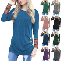Women's Casual Blouse Shirt Tops Long Sleeve Loose Jumper Pullover Tunic T-Shirt