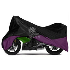 XXXL Black/ Purple Motorcycle Cover For Harley Classic FLTC w/Sidecar Touring