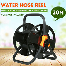 Portable Garden Hose Reel Water Pipe Standing Trolley Cart Reinforce Touch 20M
