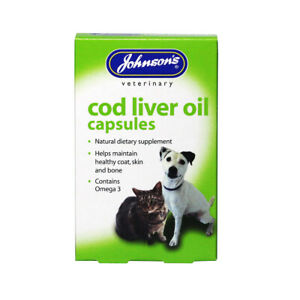 JOHNSONS Cod Liver Oil Capsules 40 capsules - Supplement Healthy Skin Coat Bones