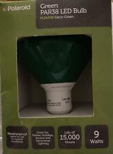 New Polaroid Led Par38 Green Flood light bulb outdoor rated weatherproof 9 watts