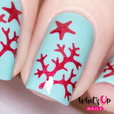 Sea Star and Coral Stencils for Nails, Nail Art, Nail Vinyls for Nail Design