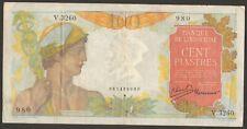 100% Original 100 Piastres Banque De L'Indochine 980 V.3260 Pick-82b 1949-54 Ef