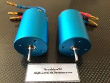 2 X 3650 3300KV 1/10 4 Pole Brushless Motor Fits Traxxas Redcat 1/10 Slash