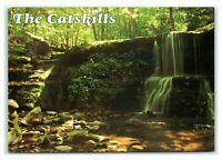 Postcard The Catskills - stream falls, NY M7