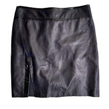 Helmut Lang Black Lamb Leather Mini Skirt Womens Size 4