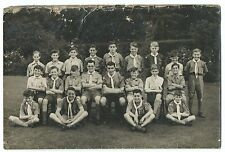 Postcard Sized Boy Scout Group Photo, Possibly Loscoe Troop